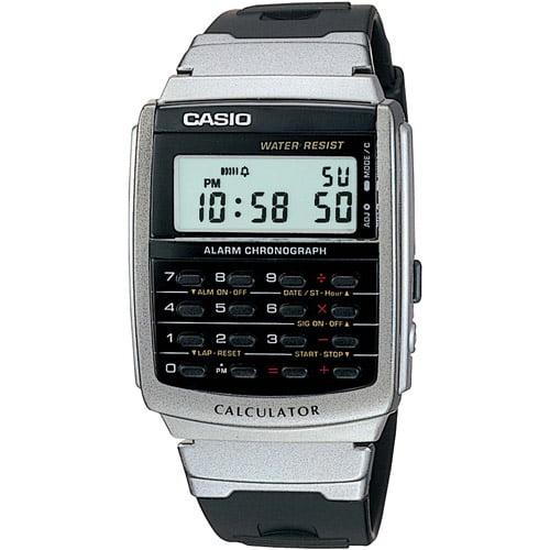 Casio Men's Calculator Watch, Black Strap