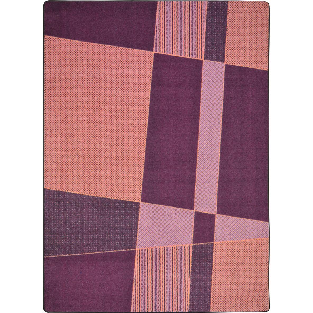 "Joy Rugs Spazz Machine Tufted - Cut Pile Purple 3'10"" x 5'4"" - Area Rug"