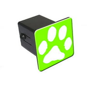 "Paw Print Green 2"" Tow Trailer Hitch Cover Plug Insert"