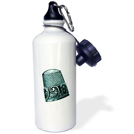 3dRose Vintage Thimble Print, Sports Water Bottle, 21oz