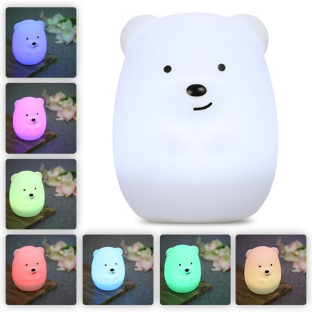 Lumipets Baby Night Light Nursery Lamp Cute Portable Led Soft Touch Safe For Kids Children Usb Rechargeable Bear