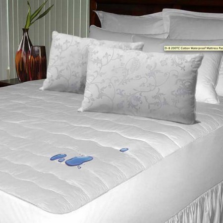Cozy Quarters D 9 Mpwp08ck Newpoint 200 Tc Waterproof Cotton Mattress Pad Cal King