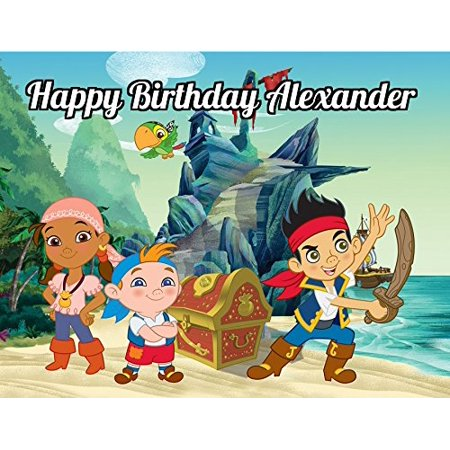 Jake and the Neverland Pirates Edible Image Photo Cake Topper Sheet Personalized Custom Customized Birthday Party - 1/4 Sheet - 78820, Jake and the Neverland.., By Sweet Custom Cakes