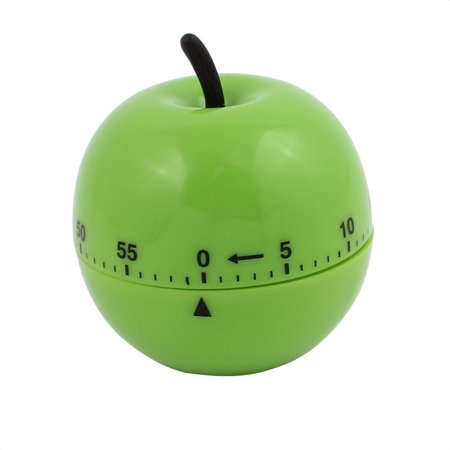 2.7x2.7x3-Inch 60-Minute Mechanical Kitchen Timers Green Apple Design