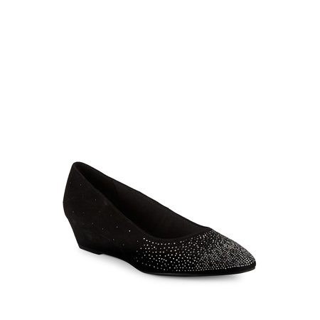 Ellery Embellished Suede Wedge Heels