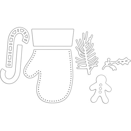 Penny Black Creative Dies-Mitten Stocking - image 1 de 1