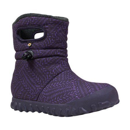 bcbe136050 bogs baby b-moc waterproof insulated kids/toddler winter boot, fleck  print/eggplant/multi, 12 m us little