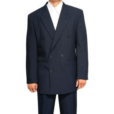Mens Navy Blue Double Breasted (DB) Dress Suit - Includes Jacket & (La Suit Outlet 3 Mens Suits $100)