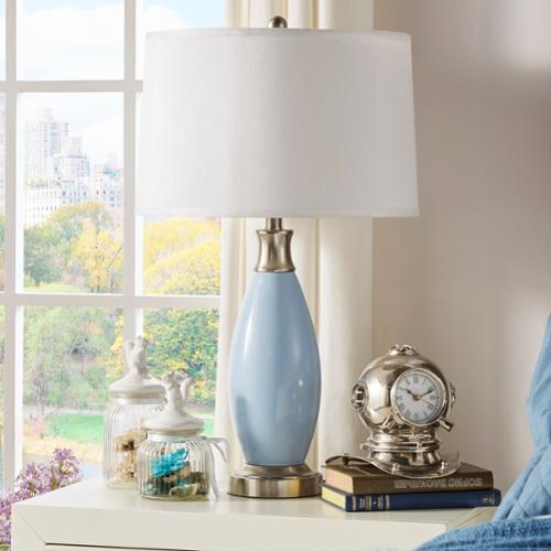 INSPIRE Q Ajax Blue Metal 1-light Accent Table Lamp by  Classic
