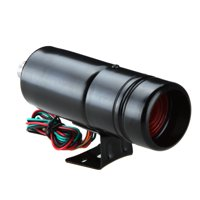 Adjustable Tachometer 1K-11K RPM Tacho Gauge Aluminum Shift Light Blue/Red LED Light Black Surface