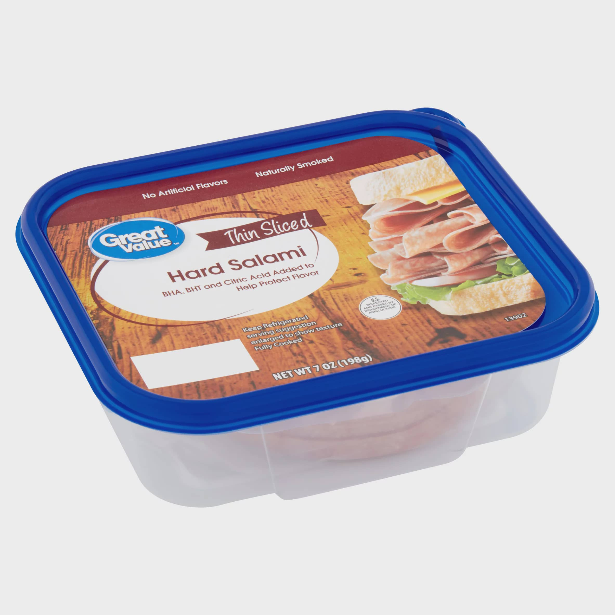Great Value Thin Sliced Hard Salami, 7