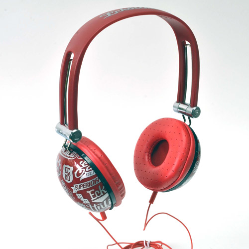 ECKO UNLIMITED EKU-IMP-COLRD Ecko Impact Over-The-Ear Headphones with Microphone (Red)