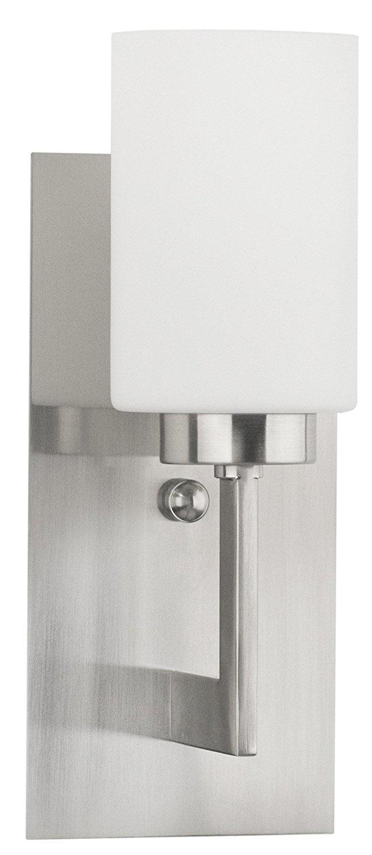 Brio Wall Sconce Light Fixture Brushed Nickel W Frosted Glass Shade Linea Di Liara Ll Wl151 Bn Walmart Com Walmart Com
