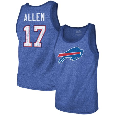 Number Buffalo - Josh Allen Buffalo Bills Majestic Threads Player Name & Number Tri-Blend Tank Top - Royal