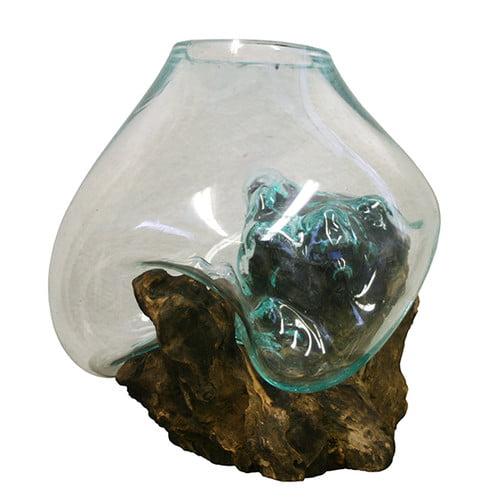 Cohasset Gifts & Garden Molten Glass and Wood Sculpture