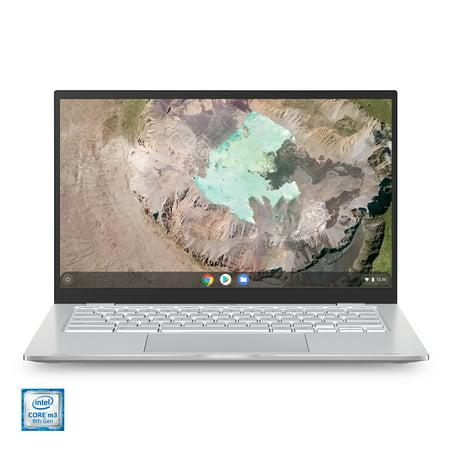 "ASUS Chromebook C425 Clamshell Laptop, 14"" FHD 4-Way NanoEdge, Intel Core m3-8100Y Processor, 4GB RAM, 128GB eMMC Storage, Backlit KB, Silver, Chrome OS, C425TA-WH348"