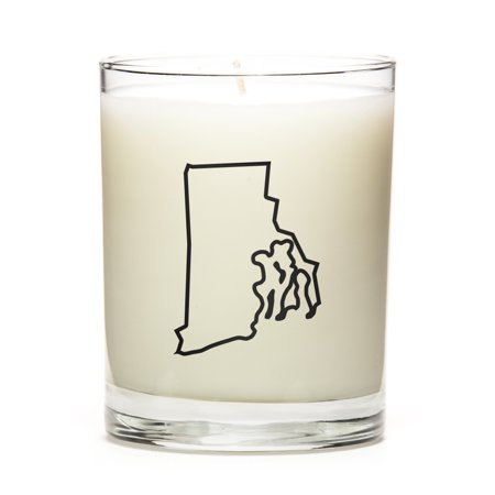 Custom Unity Candle - Custom Gift with the Map Outline of Rhode-Island - U.S State! Make your Gift Special with our Premium Custom Candles, Soy Wax, Low Smoke, Even Burn, Luna Candle Co. - Peach Bellini