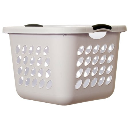 New 301138  Sterilite #1217 Laundry Basket Sq Wht (6-Pack) Laundry Accessories Cheap Wholesale Discount Bulk Household Laundry Accessories - Baskets Wholesale
