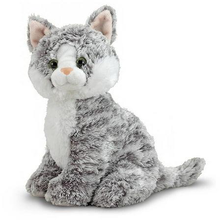 Melissa & Doug Greycie Tabby Cat Stuffed Animal - Cool Homemade Halloween Stuff