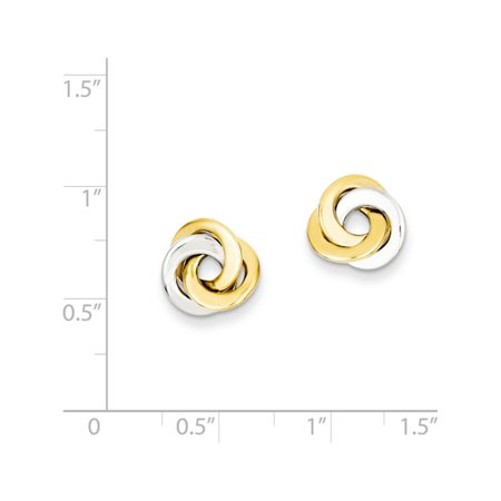 14k Two-Tone Gold  Polished Intertwined Circles Post (11x11mm) Earrings - image 2 of 3