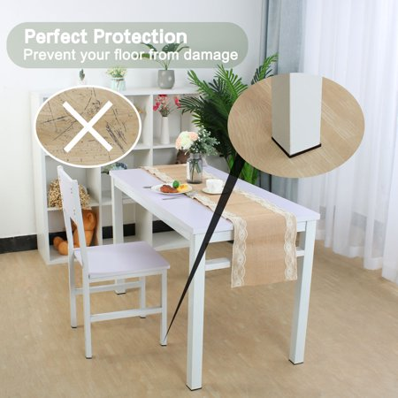 "Felt Furniture Feet Pads Square 3/4"" Self Adhesive Feet Floor Protector 24pcs - image 3 de 7"