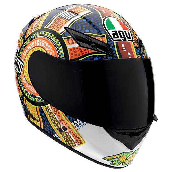 AGV K3 Rossi Dreamtime Helmet Blue/Orange