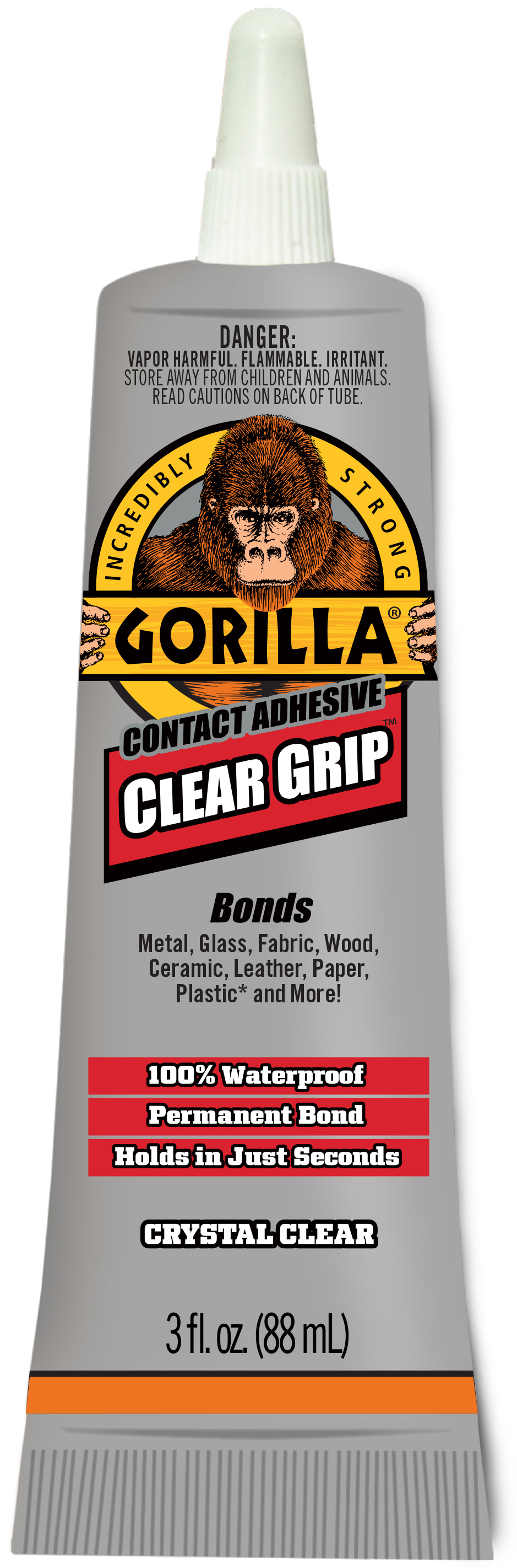 Gorilla Clear Grip Contact Adhesive 3oz