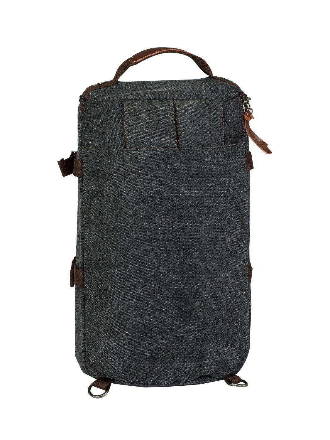 50bb7c5a42 LUXUR Retro Duffel 30L Cylinder Bag Canvas Travel Backpack Hiking Shoulder  Handbag - Walmart.com
