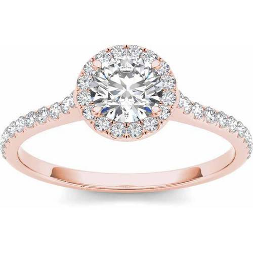 Imperial 3 4 Carat T.W. Diamond Single Halo 14kt Rose Gold Engagement Ring by Imperial Jewels