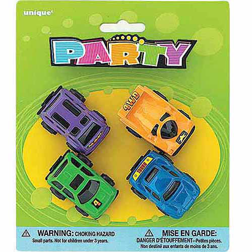 Mini Race Cars Party Favors, 4pk