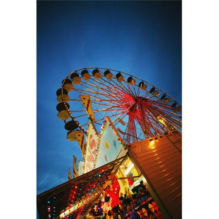 Evening At An Amusement Park Poster Print by Darren Greenwood, 22 x 34 - Large ()