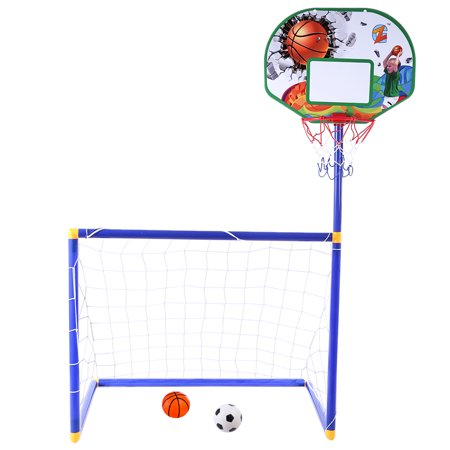 ZG270-27 Children Football and Basketball Stands Two-in-one Outdoor Sports Educational Early Toys