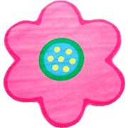Fun Rugs Fun Time Shape Poppy Light Pink Kids Area Rug