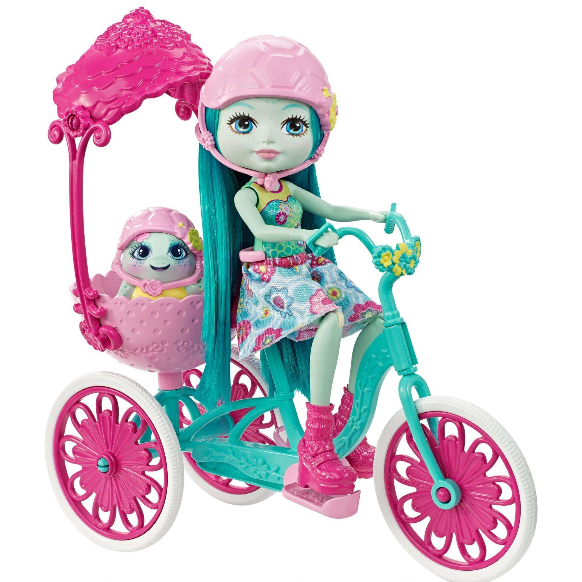 Enchantimals Built for Two Doll Playset, Turtle & Tricycle by Mattel