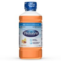 (4 pack) Pedialyte Electrolyte Solution, Hydration Drink, Mixed Fruit, 1 Liter