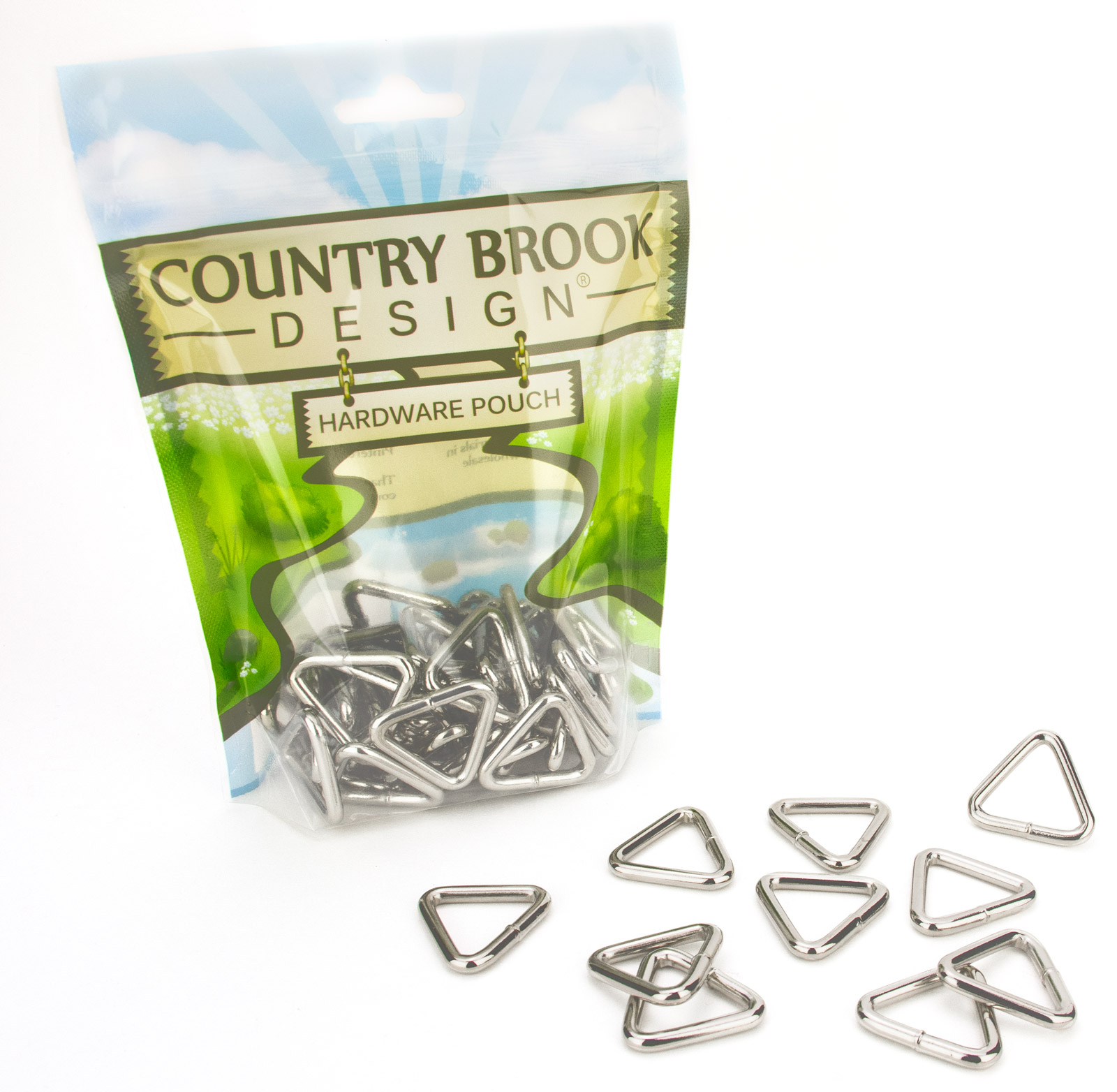 Country Brook Design® 1 Inch Welded Triangle Rings