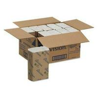 Envision 25190 White C-Fold Paper Towels, 2,400 Towels