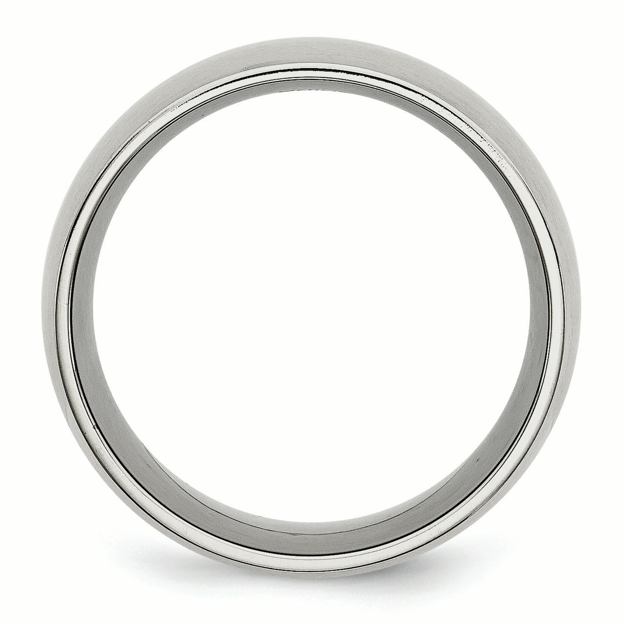 Stainless Steel 12mm Brushed Wedding Ring Band Size 10.00 Classic Domed Fashion Jewelry Gifts For Women For Her - image 4 of 6
