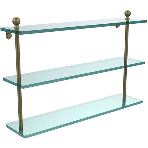 """Mambo Collection 22"""" Triple Tiered Glass Shelf (Build to Order)"""