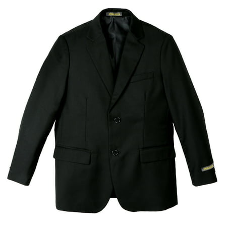 Spring Notion Big Boys' Two Button Blazer, Black