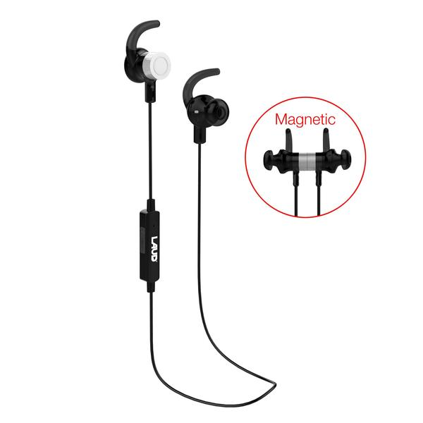 Laud Magnetic Bluetooth Wireless Earbuds LX2 for Workouts with SecureFit and Mic