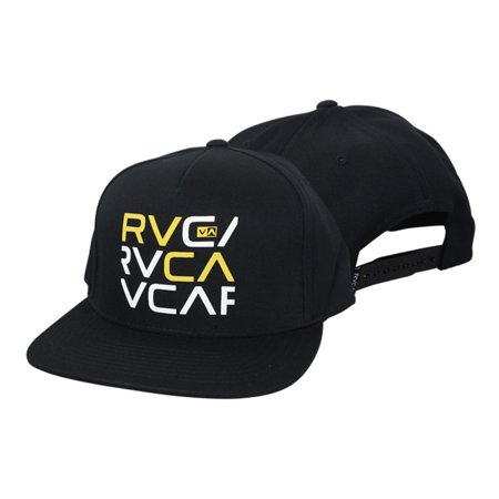 1c0b8c0f RVCA - RVCA Mens Stacked Snapback Hat - Black/Yellow/White - surf skate mma  - Walmart.com