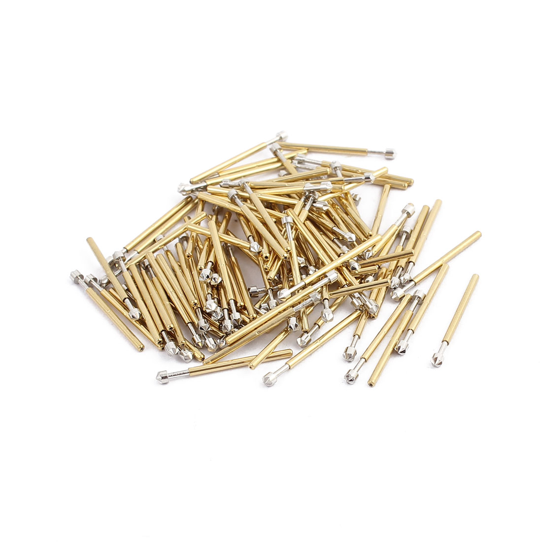 100pcs P75-LM3 1.0mm Dia 16.8mm Length Metal Spring Pressure Test Probe Needle