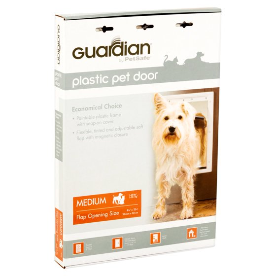 Guardian By Petsafe White Plastic Pet Door Medium For Pets To 40