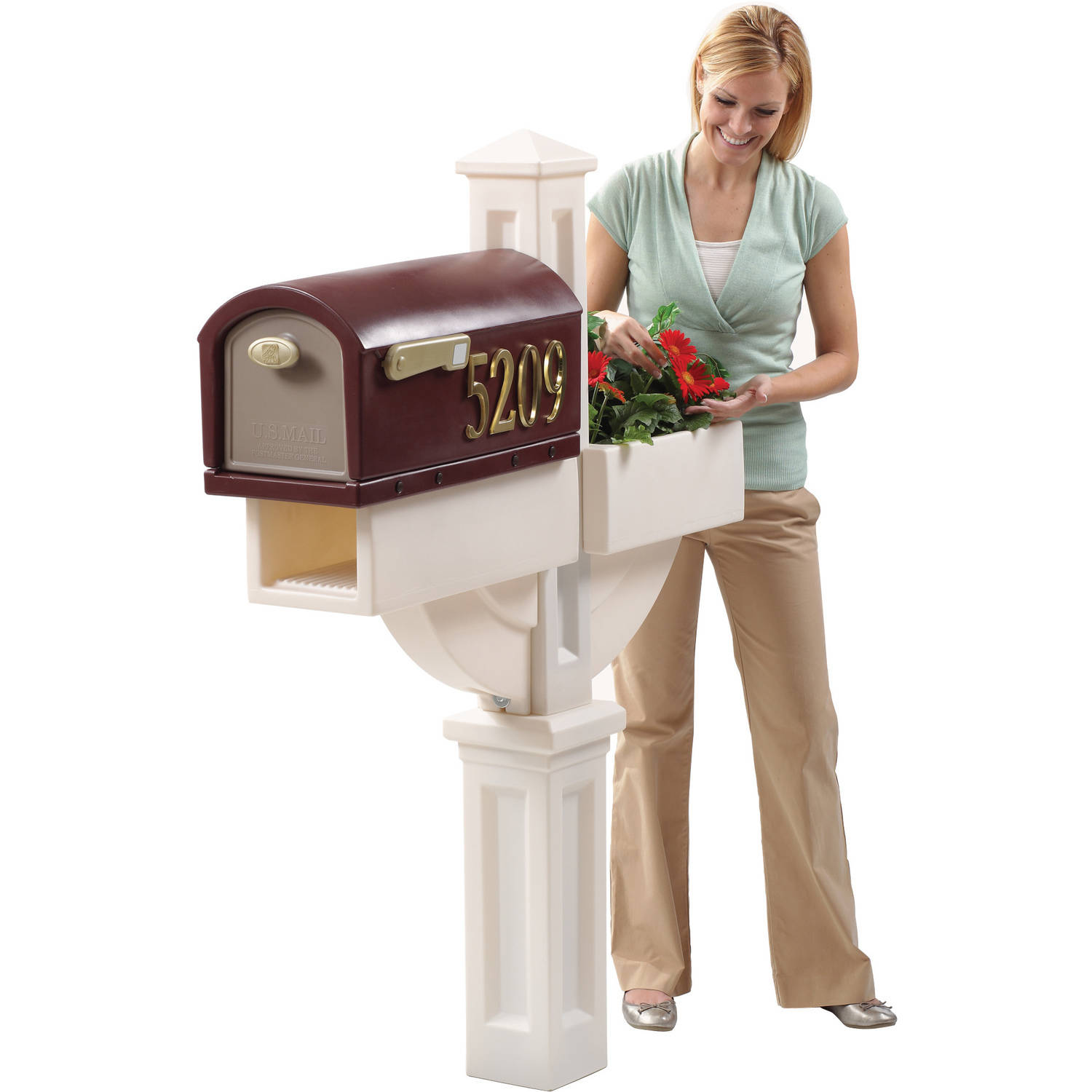 Hudson Mailbox with Planter by Generic