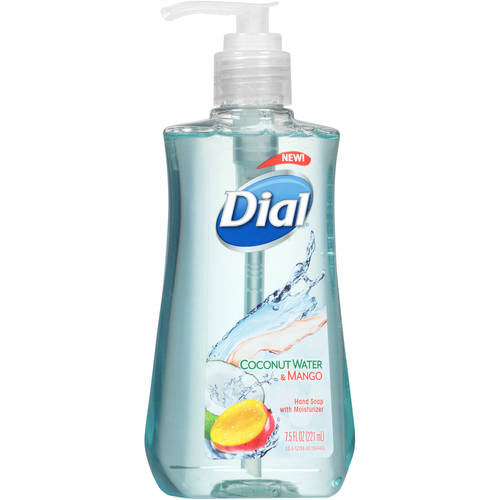 (3 Pack) Dial Liquid Hand Soap with Moisturizer, Coconut Water & Mango, 7.5 Ounce