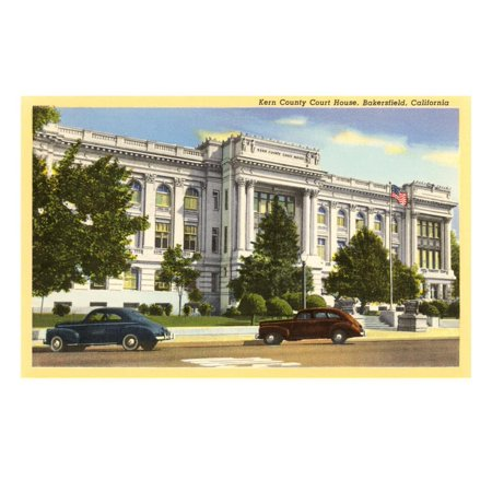 Kern County Courthouse, Bakersfield, California Print Wall - Party City Bakersfield California