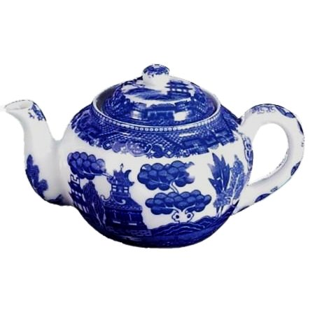 Blue Willow 32 Ounce Teapot with Infuser