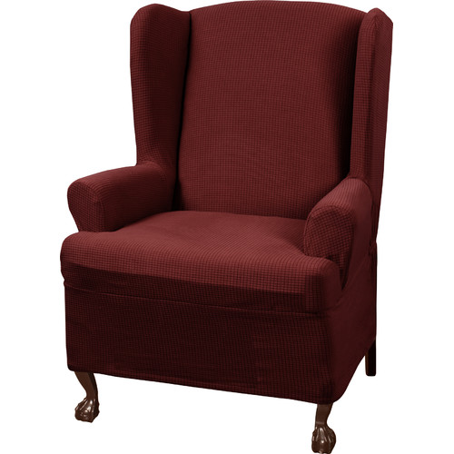 Charmant Charlton Home Blissfield Stretch One Piece Wing Chair T Cushion Slipcover