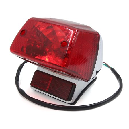 Red Brake Stop License Plate Lamp Motorcycle Integrated Tail Light for -